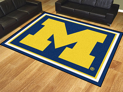 Rug 8x10 University of Michigan - Man Cave Boutique