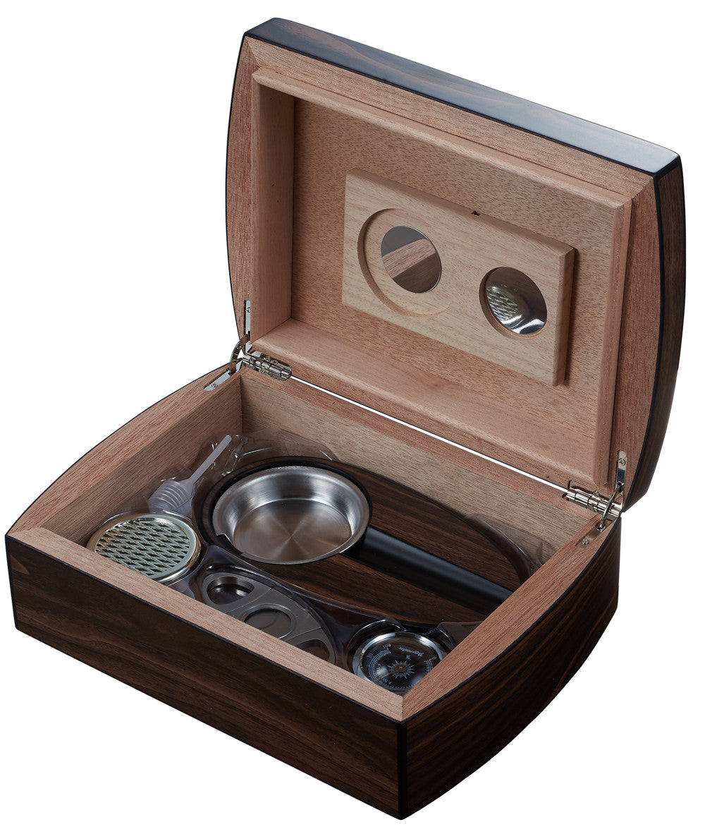... Wood Cigar Humidor Gift Set with Ashtray and Cutter / Burkhard - Man Cave Boutique ...