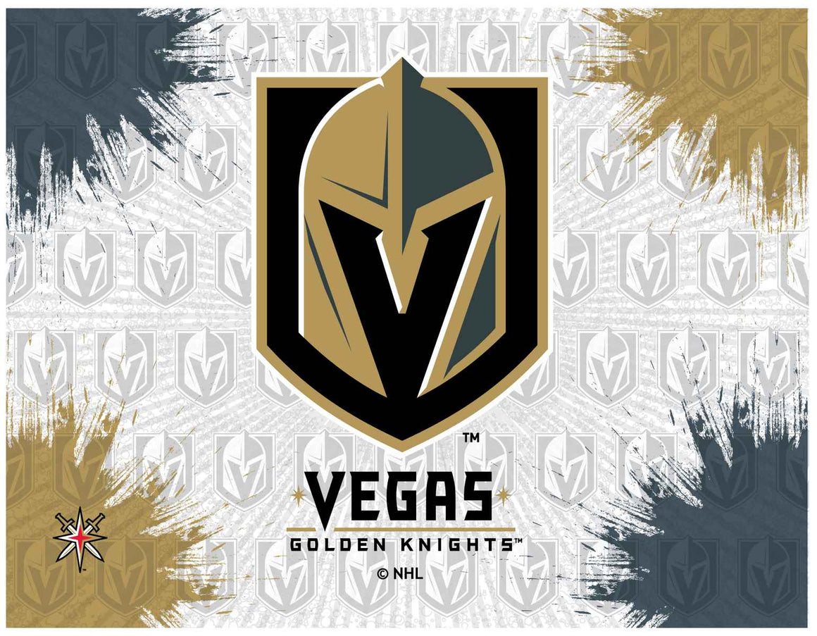 Vegas Golden Knights NHL Logo Printed Canvas Wall Art - Man Cave Boutique