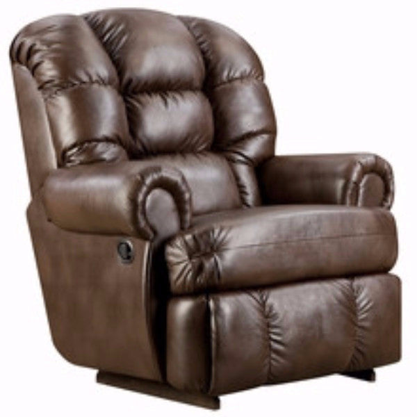 Big & Tall 350 LB. Capacity Espresso Leather Recliner - Man Cave Boutique