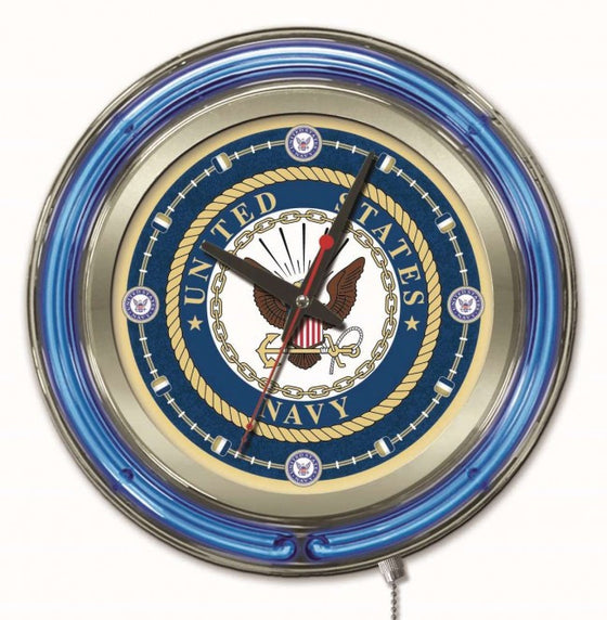"15"" US Navy Logo Clock - Man Cave Boutique"
