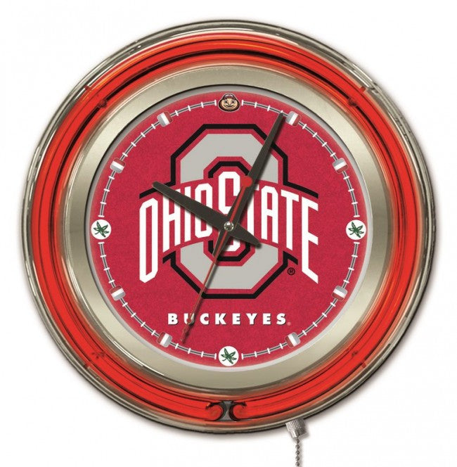 "15"" Ohio State University Logo Clock - Man Cave Boutique"