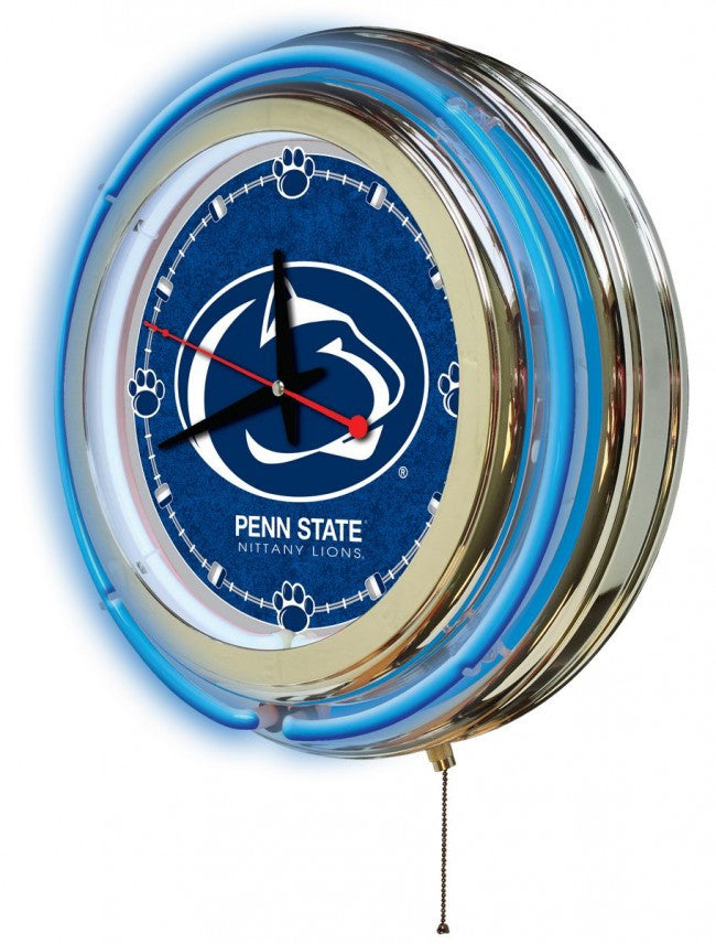 "15"" Pennsylvania State University Logo Clock - Man Cave Boutique"