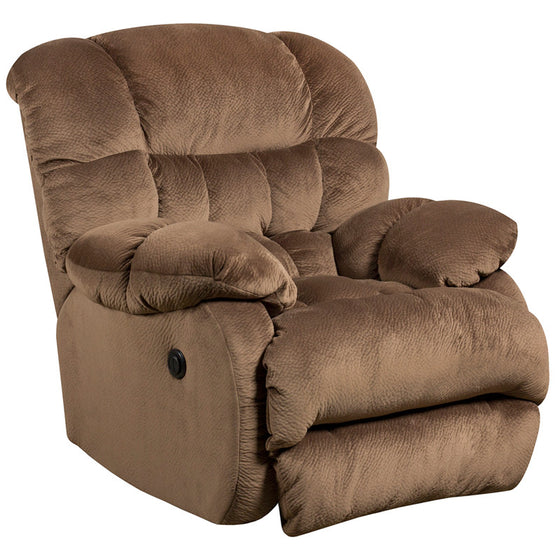 Power Recliner Contemporary Sharpei Espresso Microfiber Recliner - Man Cave Boutique