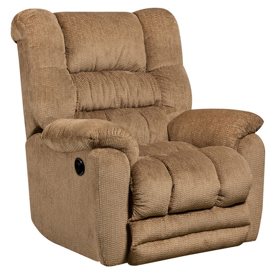 Power Recliner Contemporary Temptation Fawn Microfiber - Man Cave Boutique