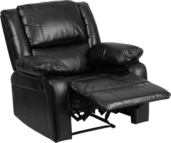 Harmony Series Black Leather Recliner - Man Cave Boutique