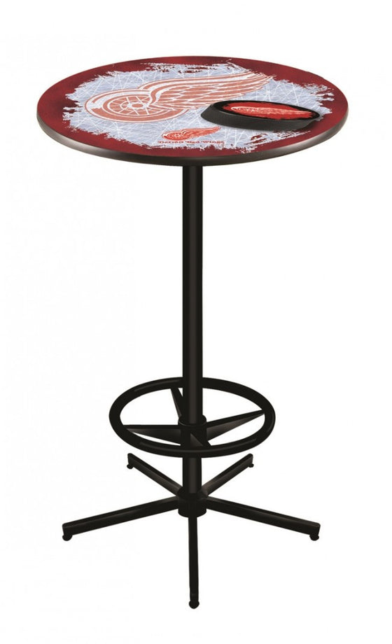 Detroit Red Wings ® Logo Pub Table L216 Black - Man Cave Boutique