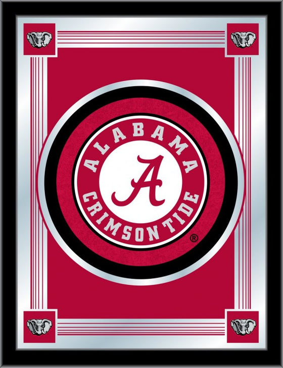 Alabama Crimson Tide Logo Mirror 17x22 - Man Cave Boutique