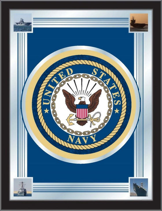 US Navy Logo Mirror - Man Cave Boutique