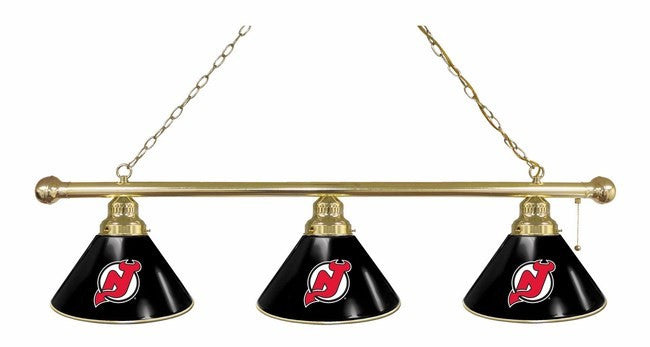 New Jersey Devils Logo Billiard Light Fixture - Man Cave Boutique