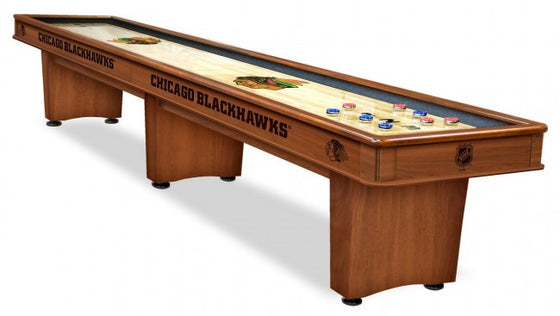 Chicago Blackhawks NHL 12' Shuffleboard Table - Man Cave Boutique