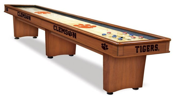 Clemson 12' Shuffleboard Table - Man Cave Boutique