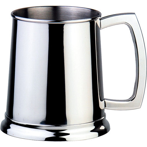 Visol Dortmund 16oz Polished Stainless Steel Beer Mug - Man Cave Boutique