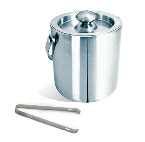 Visol Brushed Stainless Steel Ice Bucket with Tongs - Man Cave Boutique