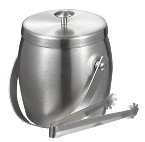 Visol Symon Stainless Steel Double Wall Ice Bucket with Tongs - Man Cave Boutique