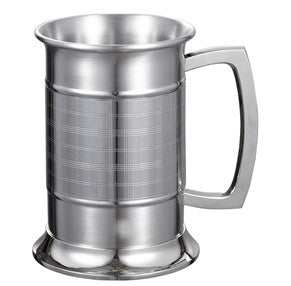 Visol Metric Glass Bottom 16 ounce Stainless Steel Beer Mug - Man Cave Boutique