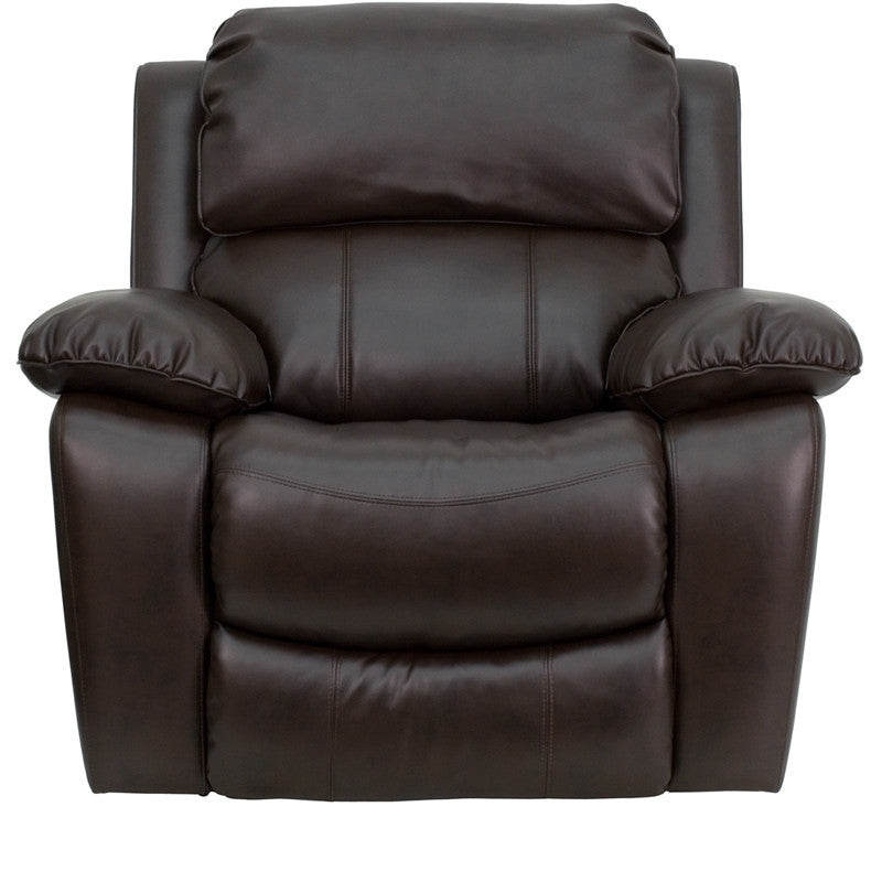 Brown Leather Rocker Recliner - Man Cave Boutique