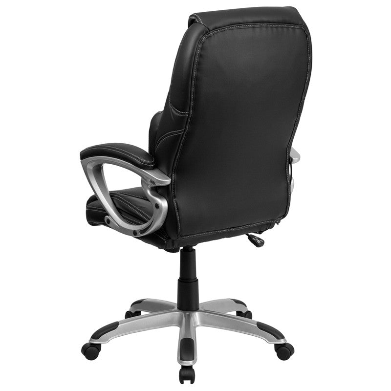 High Back Massaging Swivel Office Chair - Silver Base - BT-9806HP-2-GG - Man Cave Boutique