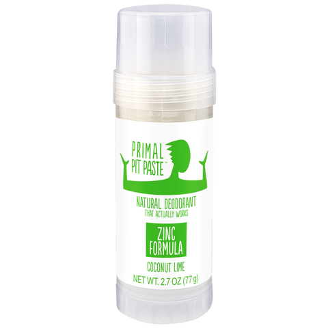 Zinc Coconut Lime Natural Deodorant Stick