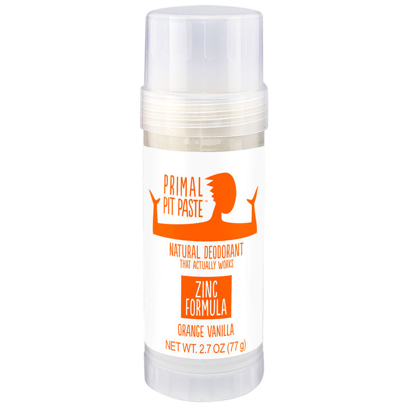 Zinc Orange Vanilla Natural Deodorant Stick