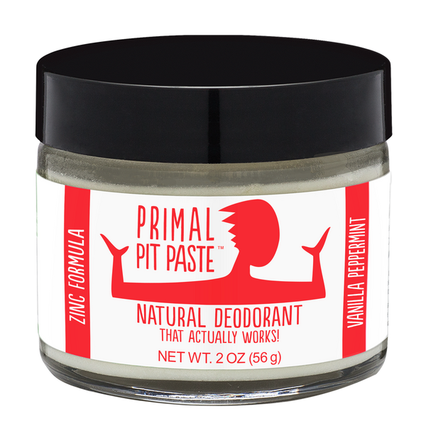 Vanilla Peppermint Natural Zinc Deodorant Jar