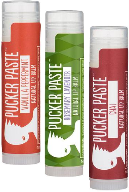 LIMITED EDITION: Holiday 3 Pack of Pucker Paste Lip Balm
