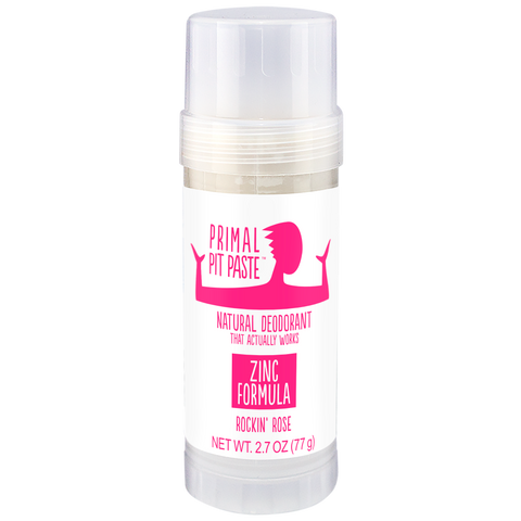 Zinc Rockin' Rose Natural Deodorant Stick