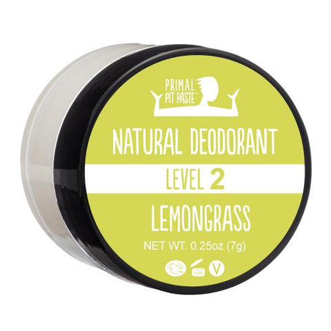 Natural Deodorant Sample with Lemongrass Scent - Level 2 Strength