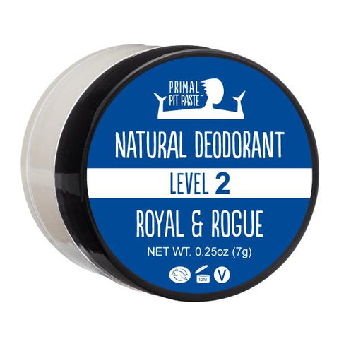 Natural Deodorant Sample with our Royal & Rogue Scent - Level 2 Strength