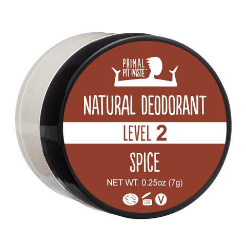 Natural Deodorant Sample with Spice Scent - Level 2 Strength
