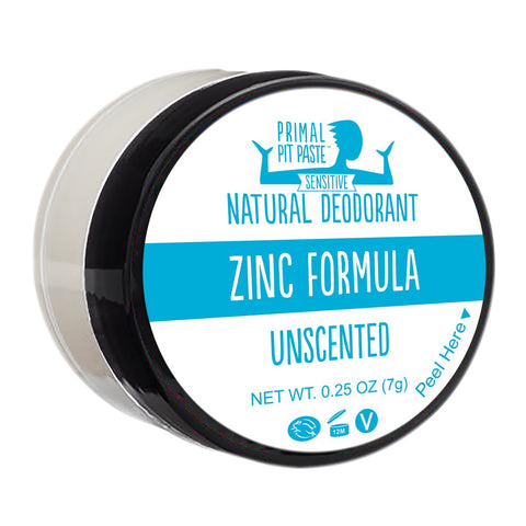 Zinc Unscented Natural Deodorant Mini