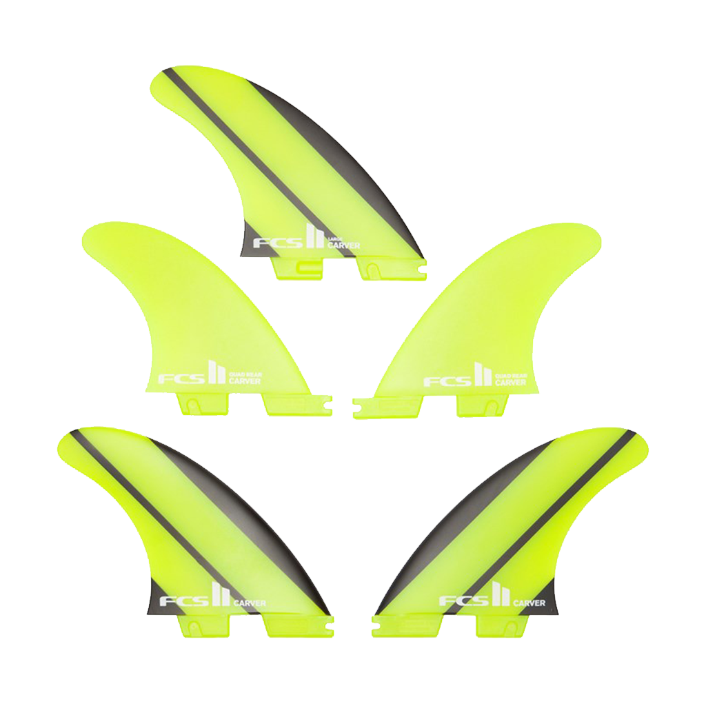 FCS II Carver Neo Glass Surfboard Tri Fin Set