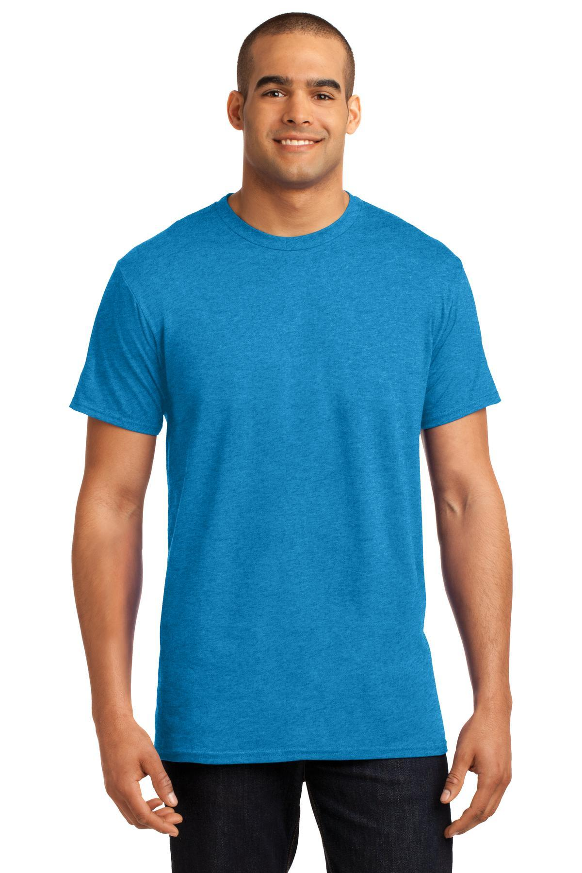 Neon Blue Heather - Hanes 4200