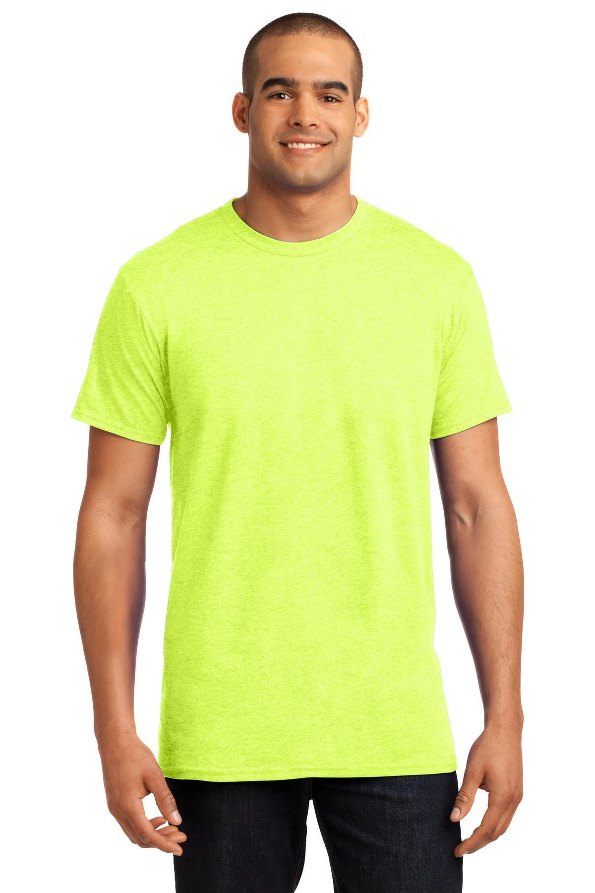 Neon Lemon Heather - Hanes 4200