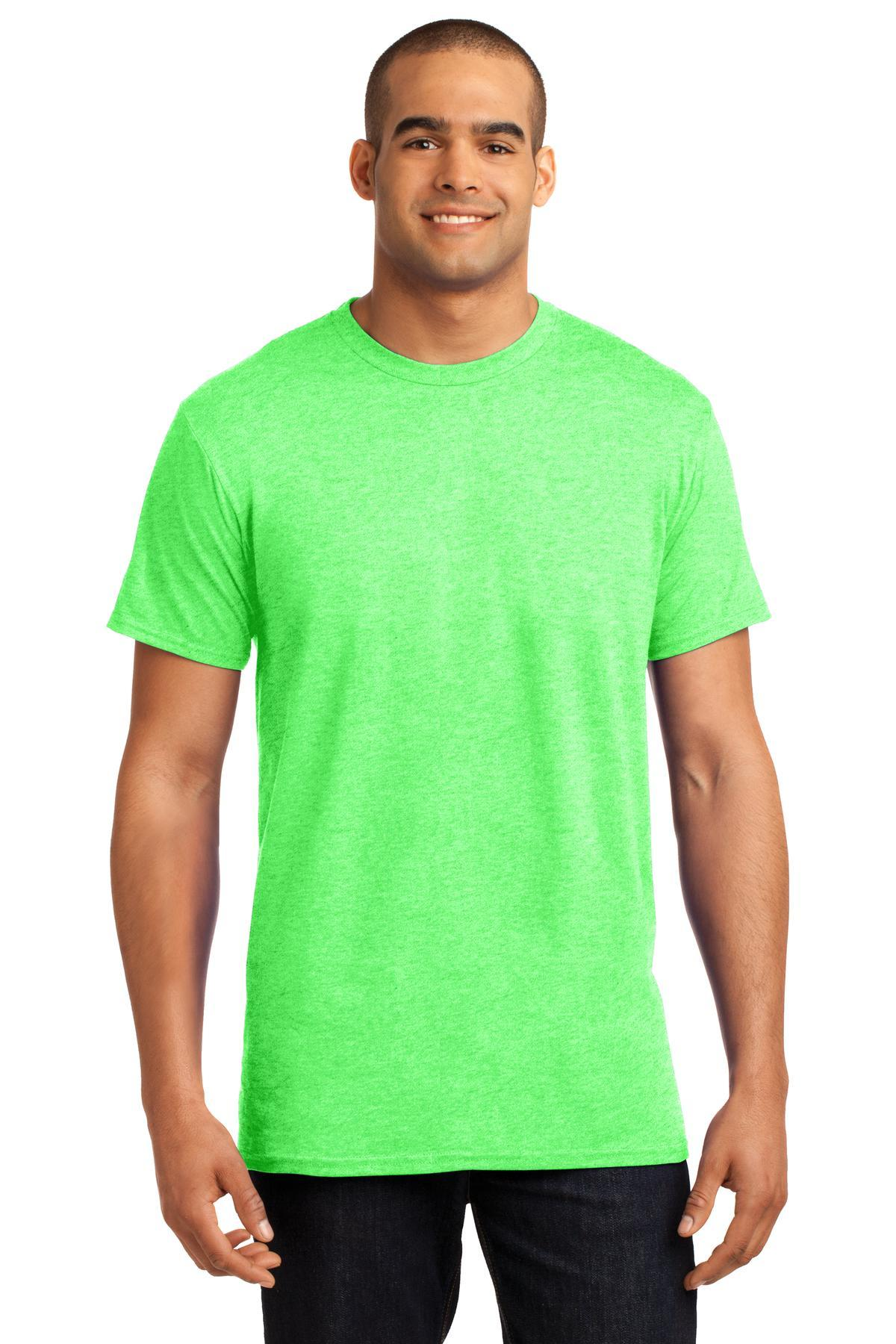 Neon Lime Heather - Hanes 4200