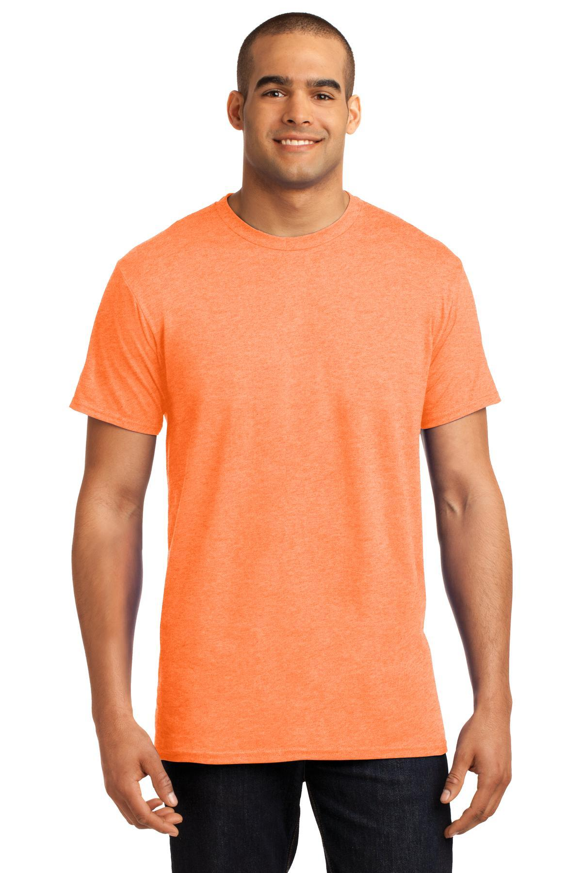 Neon Orange Heather - Hanes 4200