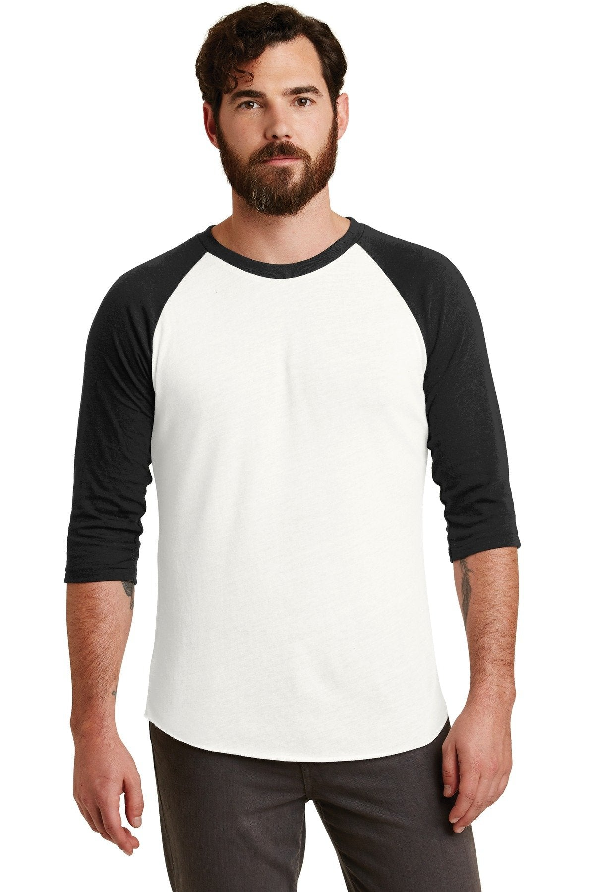 Eco Ivory/ Eco True Black - Alternative Apparel AA2089