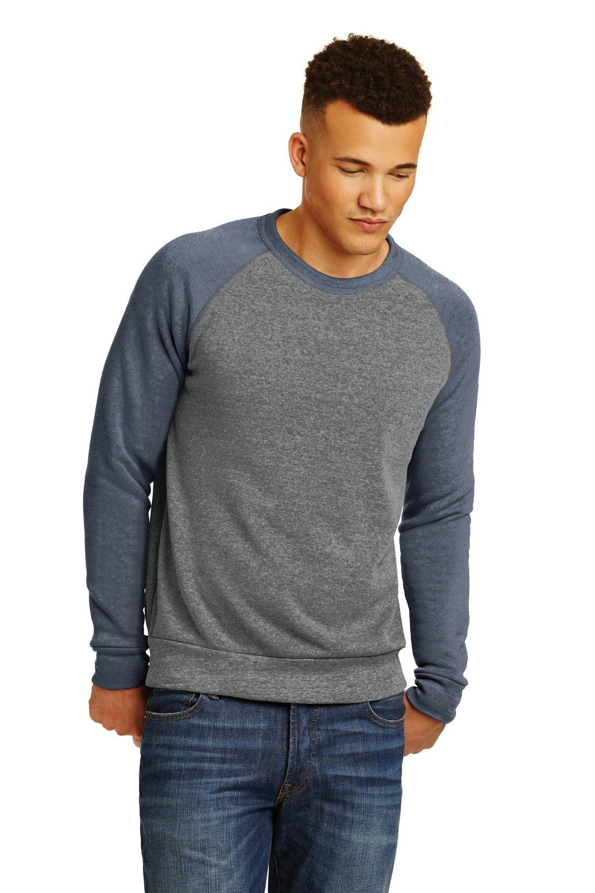 Eco Grey/ Eco True Navy - Alternative Apparel AA32022