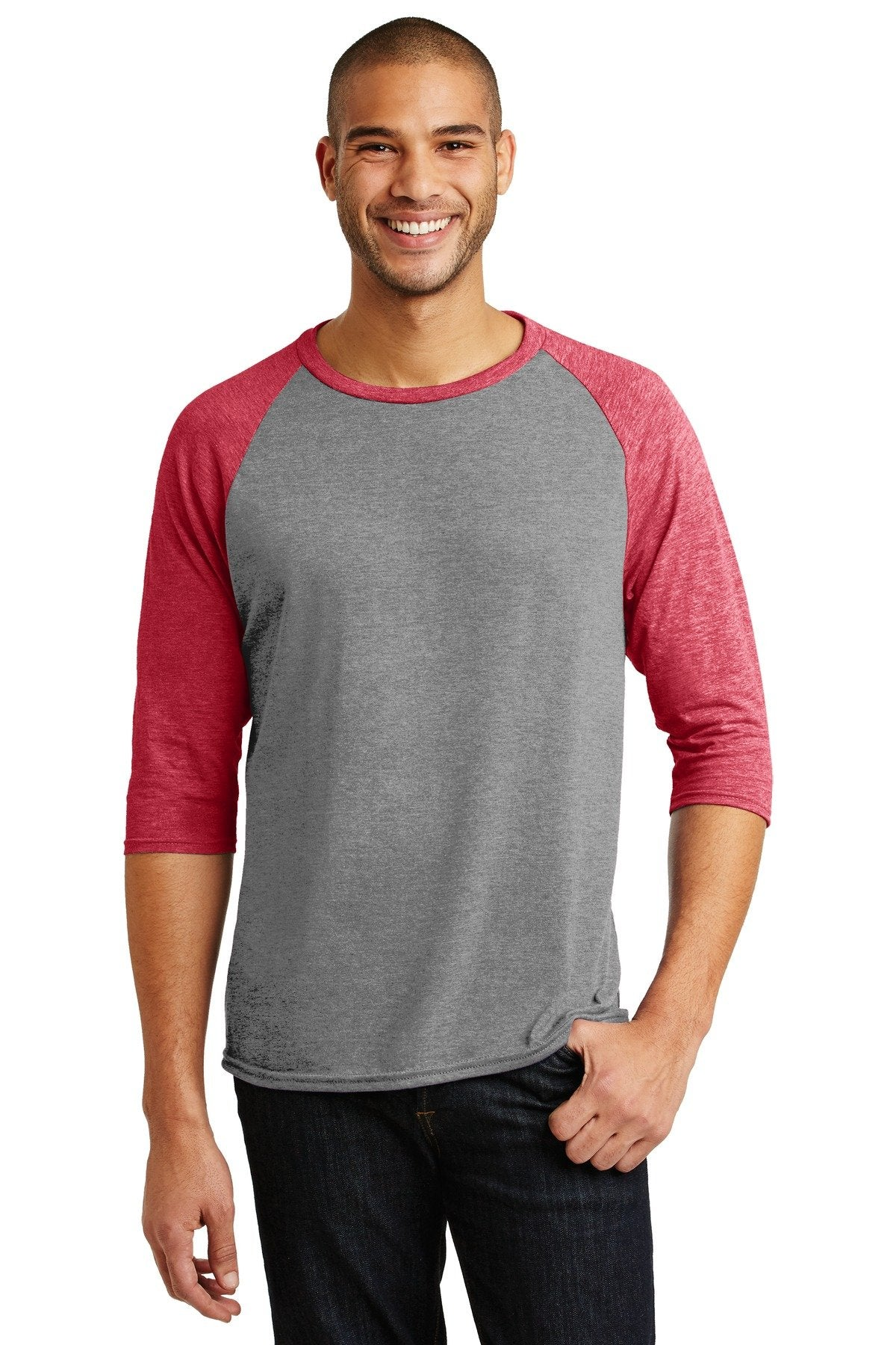 Heather Grey/ Heather Red - Anvil AN6755