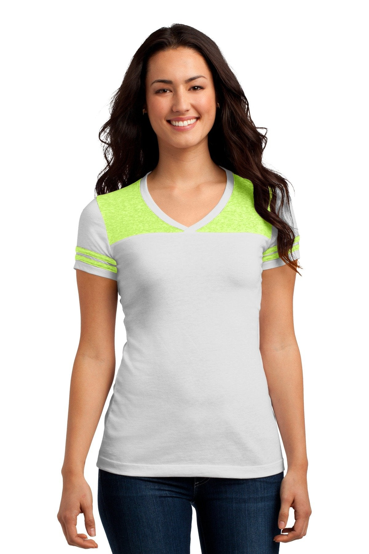 White/ Neon Lime - District DT264