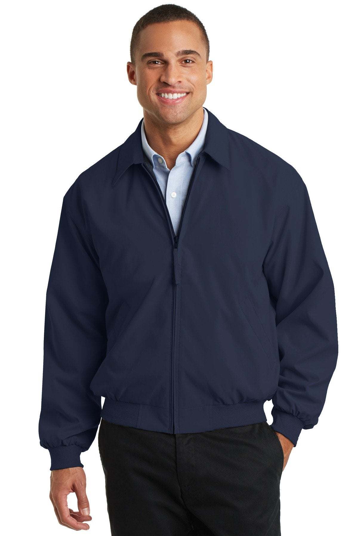 Bright Navy/Solid Pewter Lining - Port Authority J730