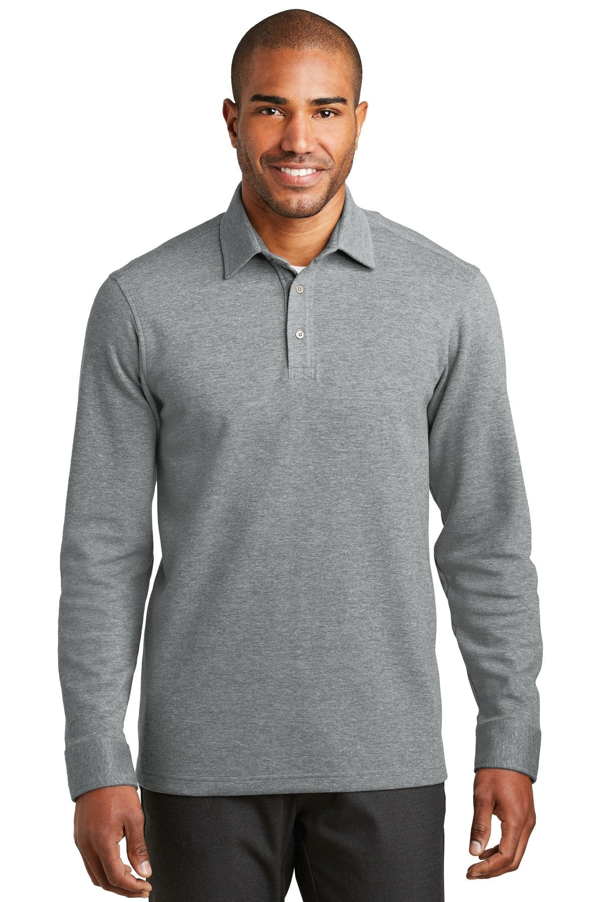 Medium Heather Grey/ Charcoal Heather - Port Authority K808
