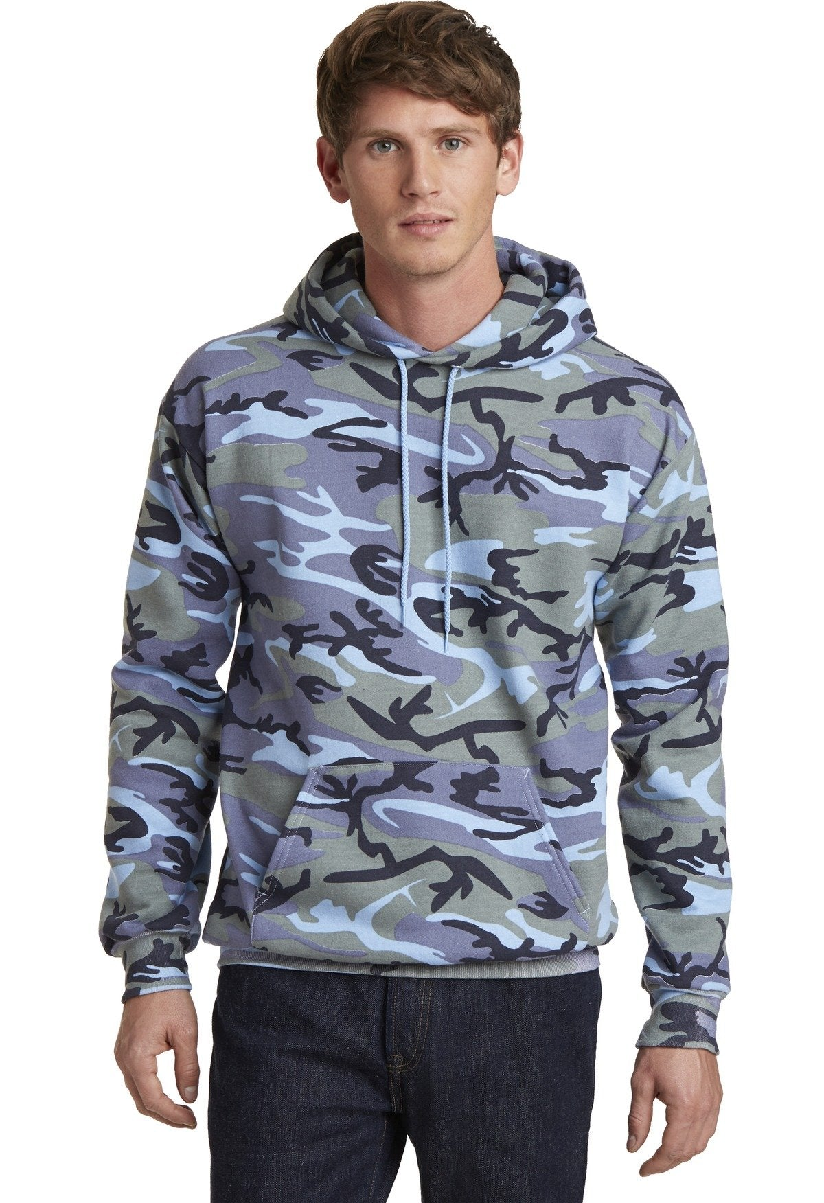 Woodland Blue Camo - Port & Company PC78HC