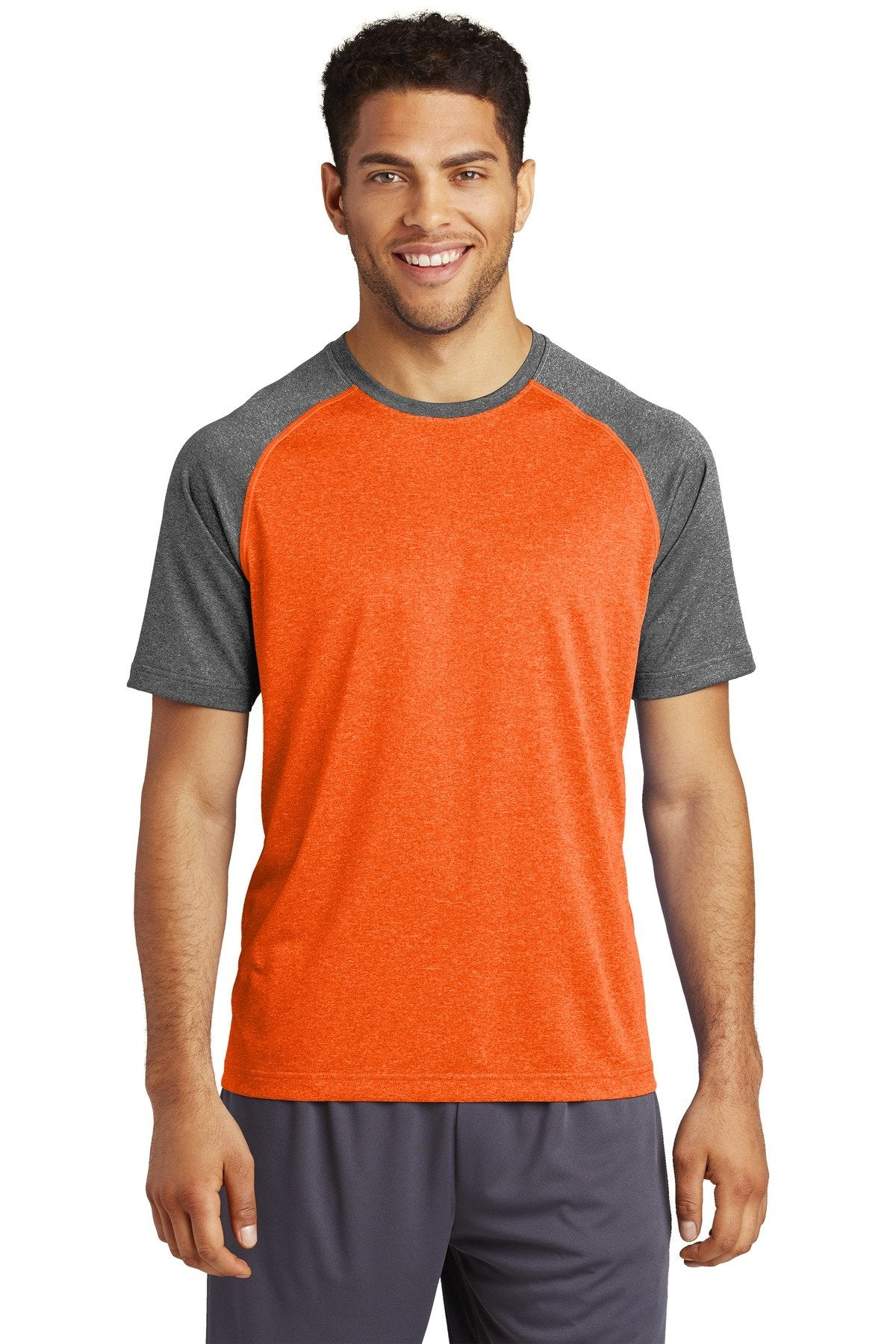 Deep Orange Heather/Graphite Heather - Sport-Tek ST362