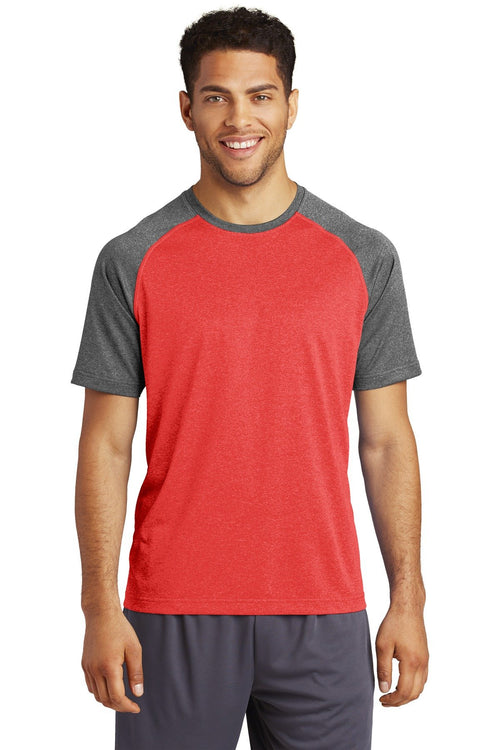 Scarlet Heather/Graphite Heather - Sport-Tek ST362
