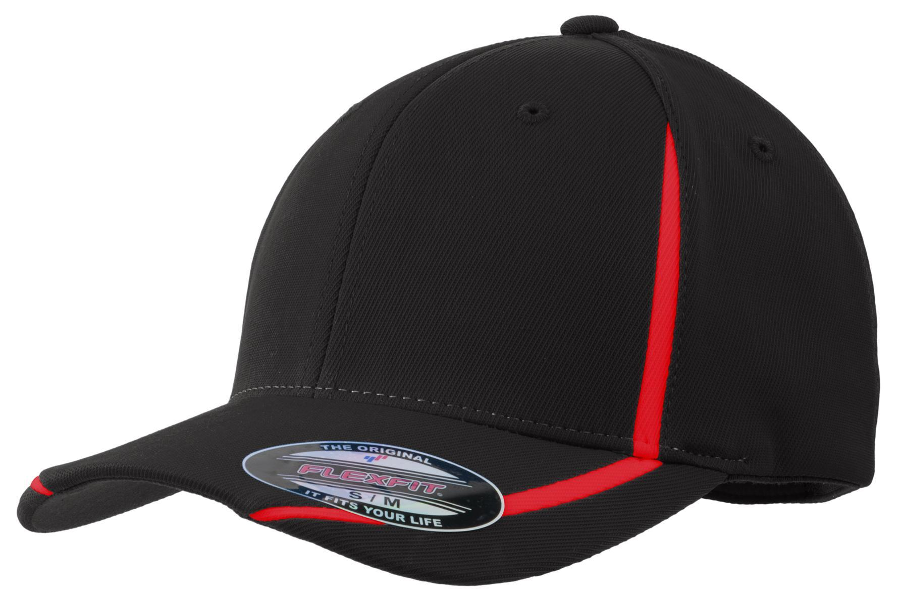 Black/True Red - Sport-Tek STC16