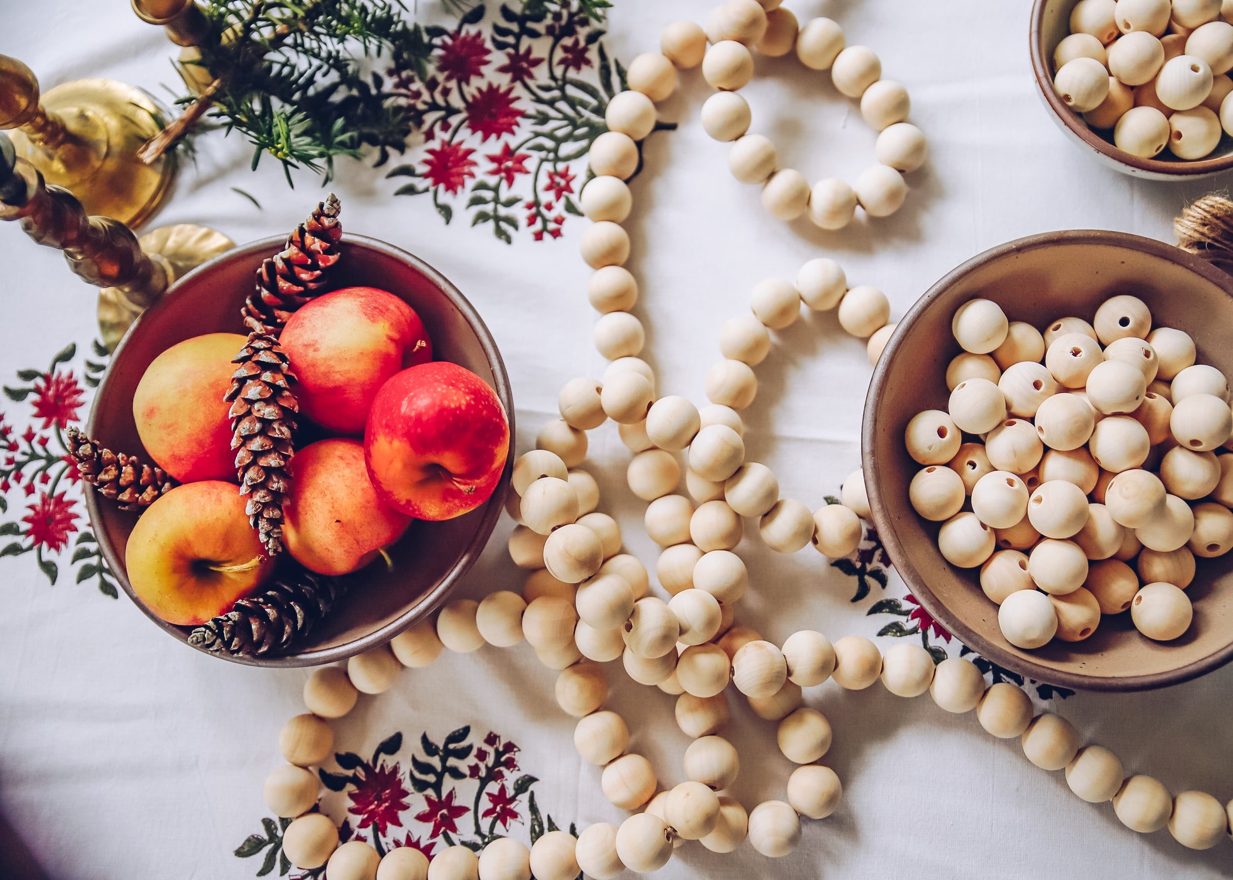 DIY: Wooden Bead Garland