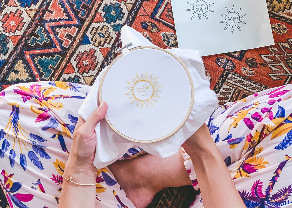 DIY: Sunrise Embroidery