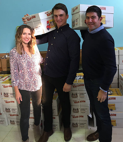 Printfresh Leo and Amy Voloshin and Dominic Fuscia at Alexander Adaire Elementary School With Philly Paper Jam Donation