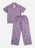 Flamenco Short Top Long Pant Set - Fuchsia